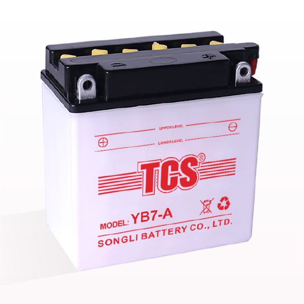 TCS motorcycle battery dry charged lead acid battery YB7-A