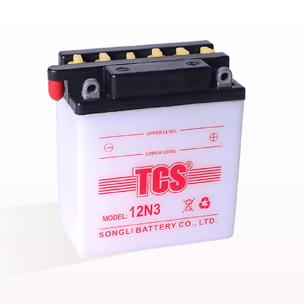 Dry charged lead acid motorcycle battery TCS 12N3