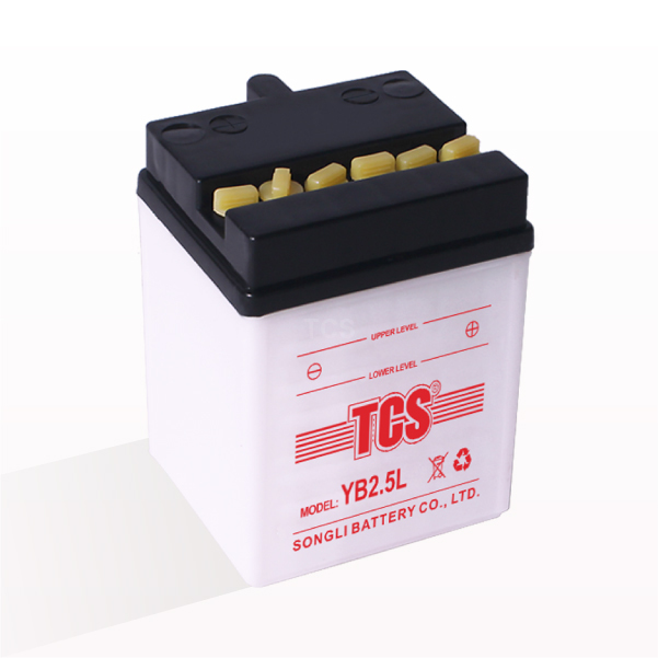 Motorcycle battery dry charged lead acid 12V TCS YB2.5L