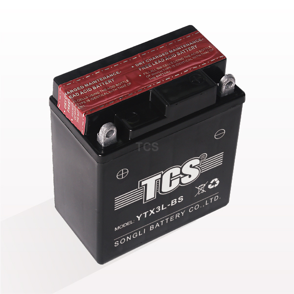 Discount wholesale Tcs Dry Charged Battery – Motorcycle battery dry charged maintenance free TCS-YTX3L-BS – SongLi
