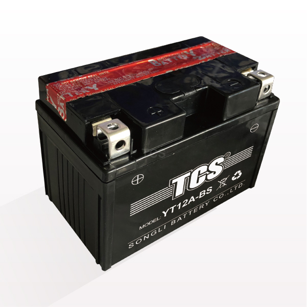 TCS motorcycle battery dry charged MF YT12A-BS