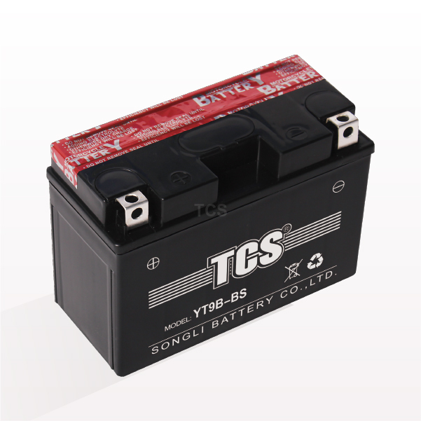 Motorcycle battery dry charged maintenance free YT9B-BS