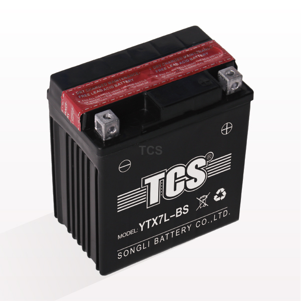 TCS dry charged maintenance free battery for motorcycle YTX7L-BS