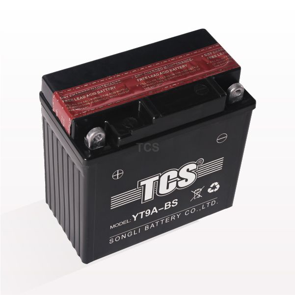 TCS motorcycle battery VRLA dry charged YT9A-BS