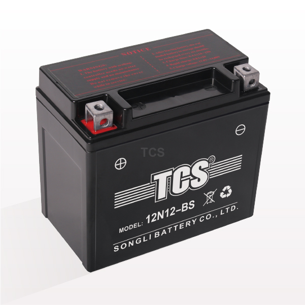 Battery for motorcycle sealed MF 12N12-BS