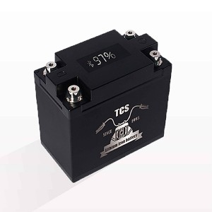 Motorcycle start up battery lithium with display T5