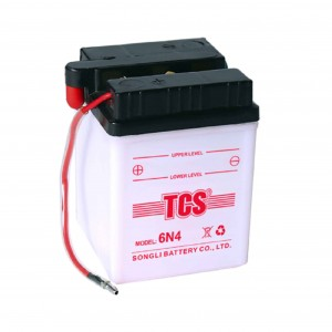 Dry charged conventional lead acid battery for motorcycle TCS 6N4