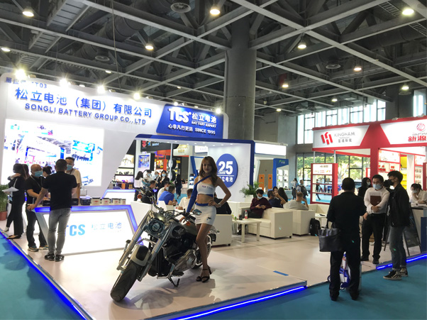 TCS Battery At The 80th China Motorcycle Parts Fair Guangzhou
